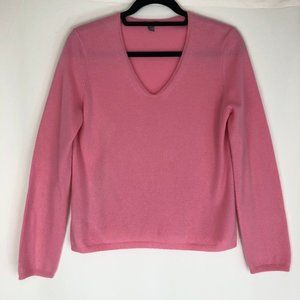 Pink Ann Taylor 100% Cashmere V-Neck Sweater